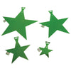 5 Inch Foil Star - Green (One Box) - Party Supplies