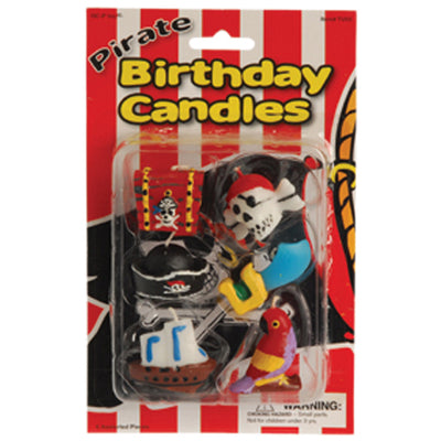pirate birthday candles  - Carnival Supplies