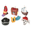 Pirate Birthday Candles (6 piece Set) - Party Supplies