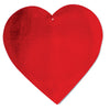 "4"" Foil Heart Decoration (One Box) - Party Supplies"