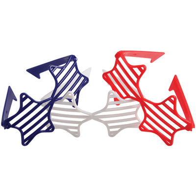 Patriotic Shutter Star Toy Glasses - C (one dozen) - Holidays