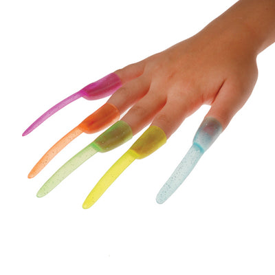 Glitter Finger Nails (36 Per Pack) - Novelties