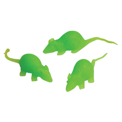 Glow Stretchy Mice (Pack) - Novelties