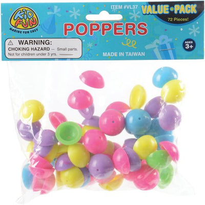 mini poppers 72 pieces  - Carnival Supplies