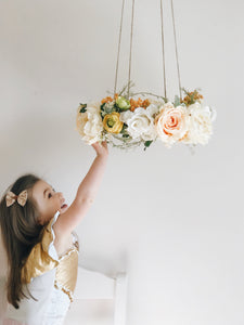 Yellow kitchen floral chandelier