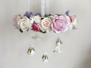 Purple floral chandelier