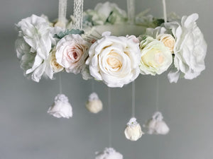 Shabby chic flower mobile by RosyRilli