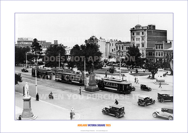 Adelaide victoria square 1925 poster print picture electra media group