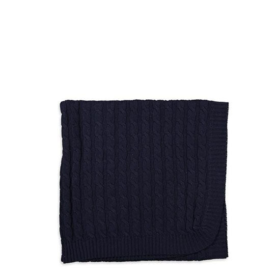 Milky cable knit wrap navy