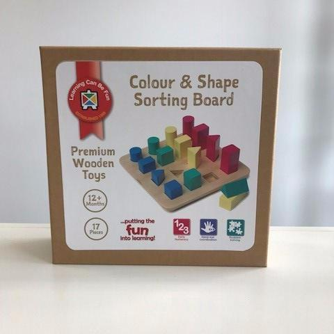 Colour and Shape Sorting Board - Little Entourage Children's Boutique