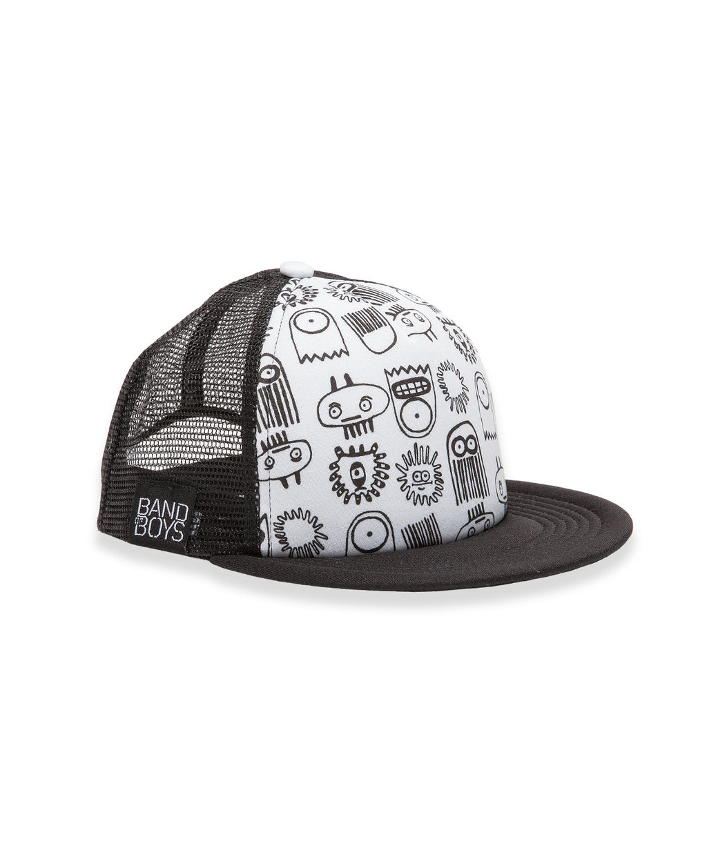 Band of Boys Cap Mesh Trucker Deep Sea White/Black OS - Little Entourage Children's Boutique