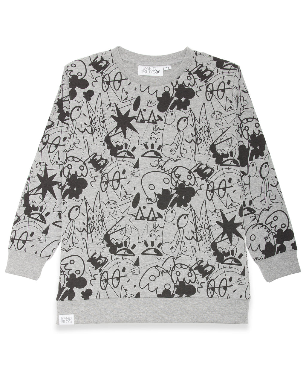 Band of Boys Jumper Close Your Eyes Marle Grey - Little Entourage Children's Boutique