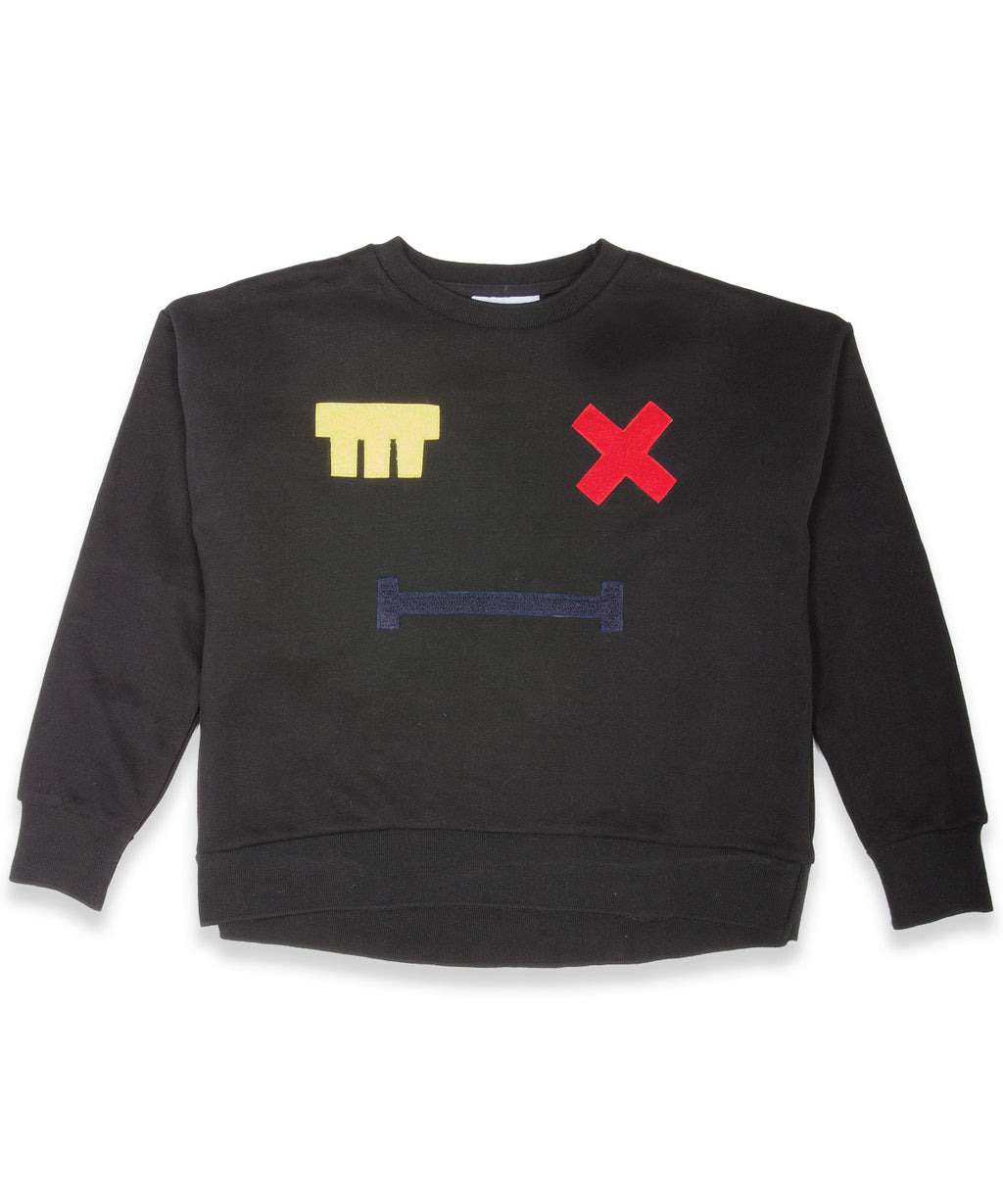 Band of Boys Jumper Cross Eye Patch Black - Little Entourage Children's Boutique