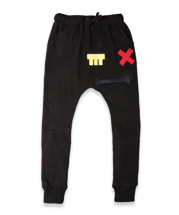 Band of Boys Trackies Cross Eye Patch Black - Little Entourage Children's Boutique
