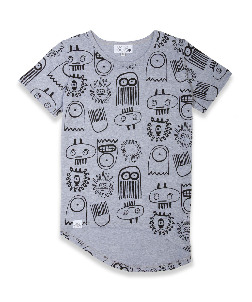 Band of Boys Tee Deep Sea Marle Grey - Little Entourage Children's Boutique