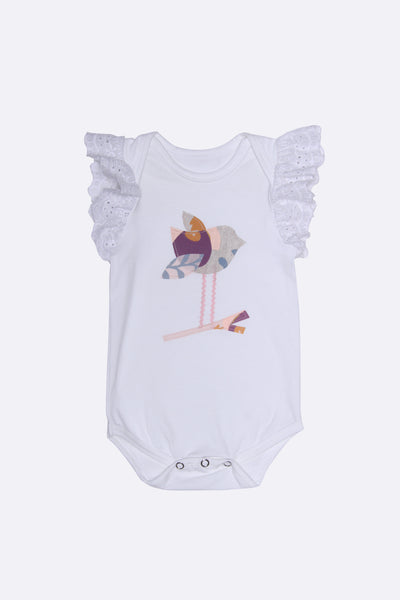 Alex and Ant Birdie Romper White
