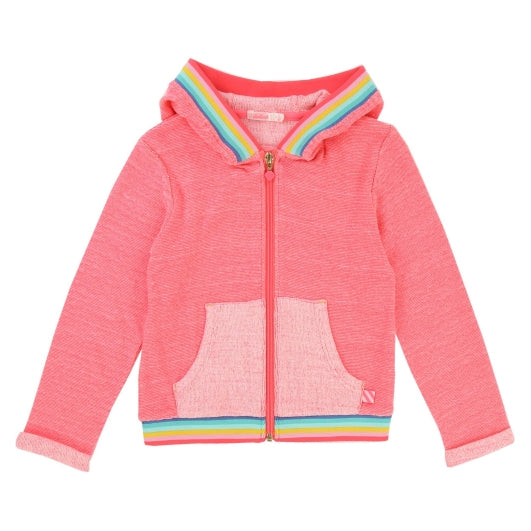Billie Blush Bright Pink Hooded Knit