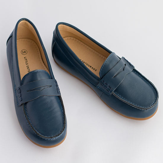 Little Entourage Joseph Boys Leather Loafer Navy