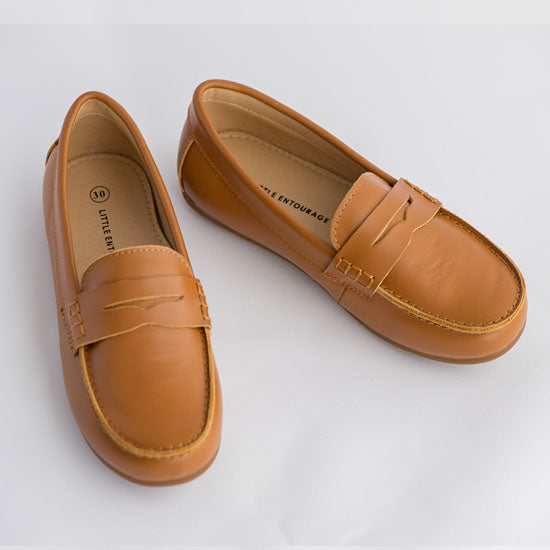 Little Entourage Joseph Boys Leather Loafer Tan