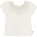 Billie Blush Open Mesh Back Tee White