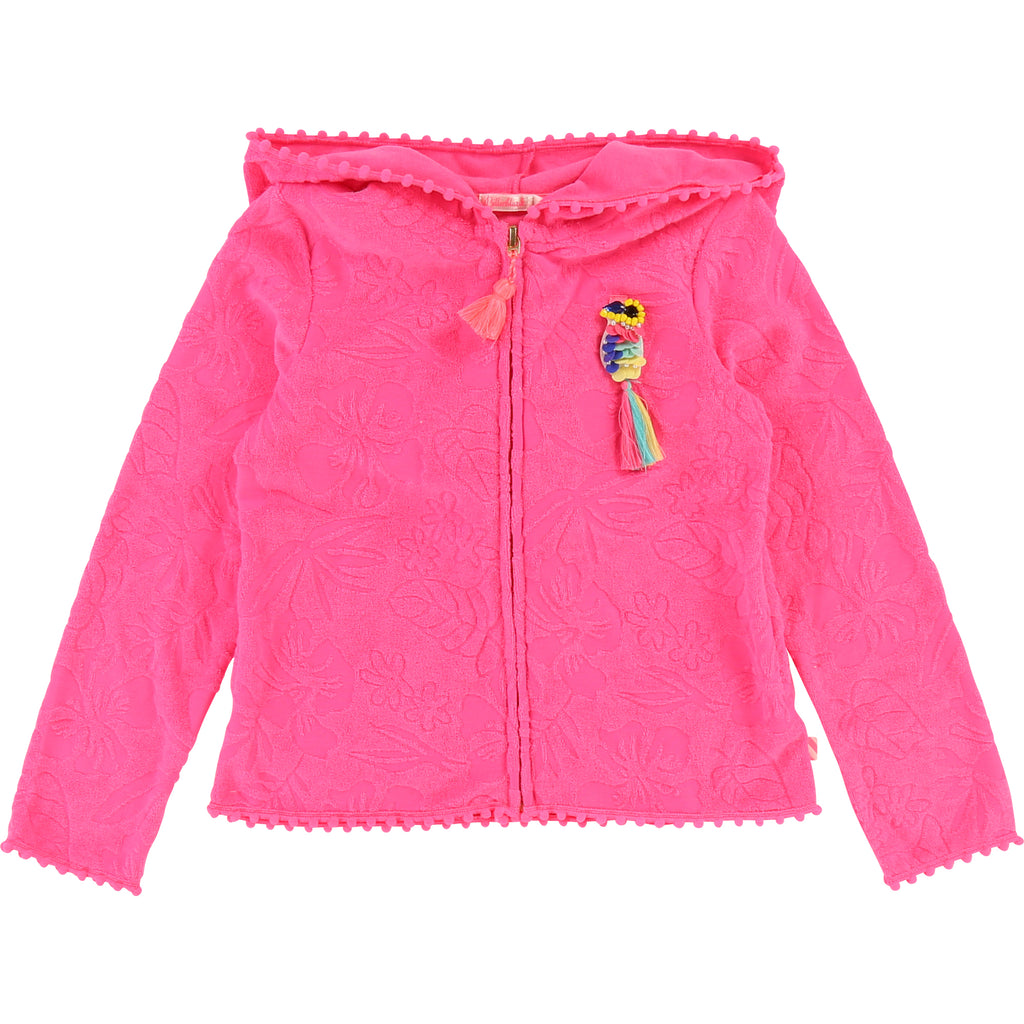 Billie Blush Terry Hooded Jacket Pink