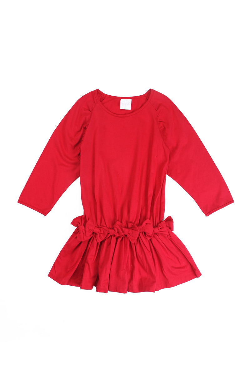 Alex and Ant W18F50 Bow Dress Red - Little Entourage Children's Boutique