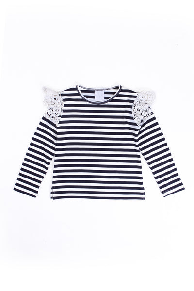 Alex and Ant W18F34 Lace Tee Stripe