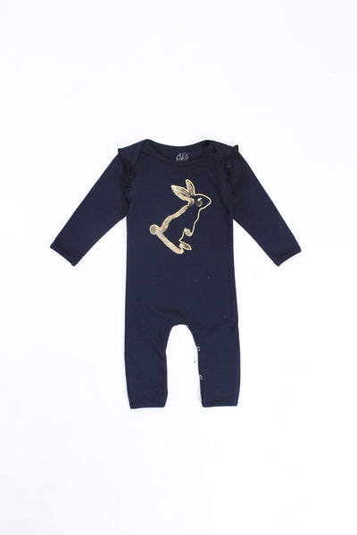 Alex and Ant W18S3 Rabbit Onesie Navy