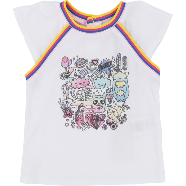 Little Marc Jacobs Sweet Candy Tee White