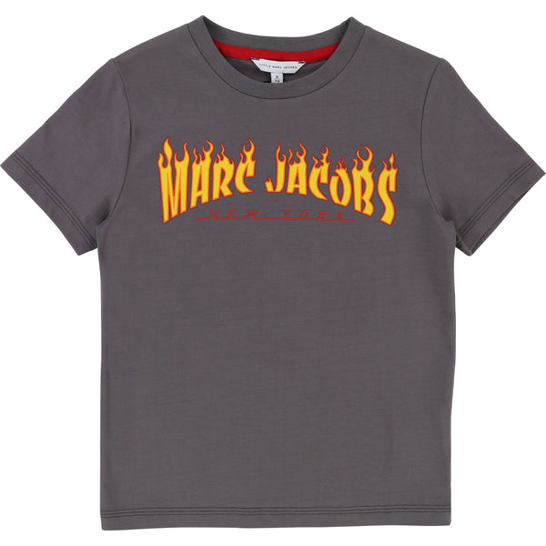Little Marc Jacobs Boys Printed Tee Charcoal
