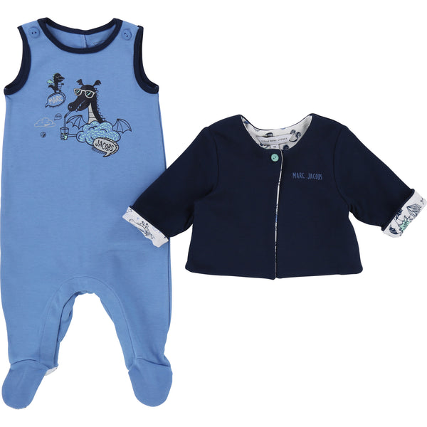 Little Marc Jacobs Romper and Cardigan Blue