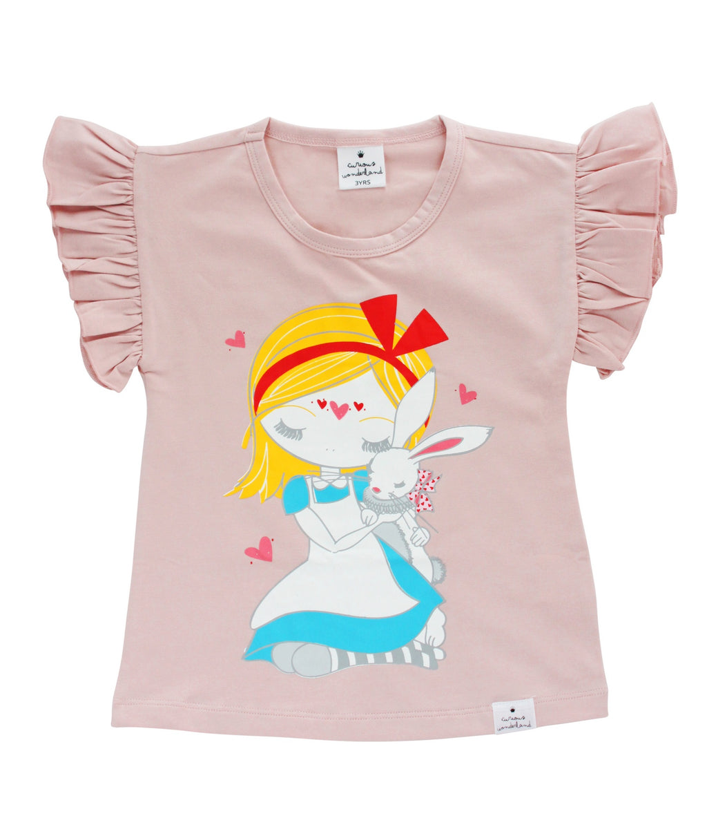Curious Wonderland Best friends flutter T Shirt - Little Entourage Children's Boutique