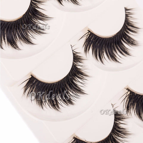 5 Pairs Soft Long Hand Made Eyelashes - Blossomlipsmakeup