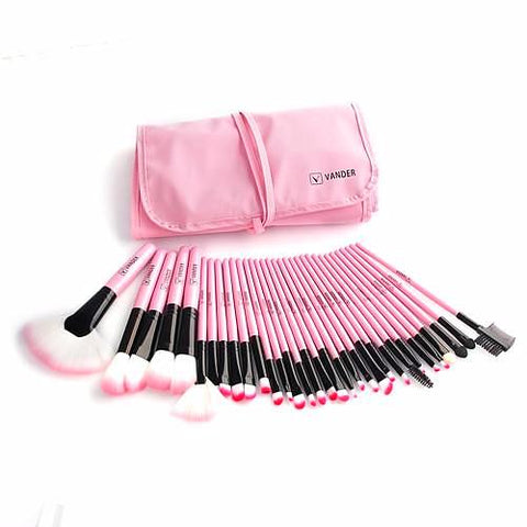 32 Piece Professional Makeup Brush Set w/Bag - Blossomlipsmakeup