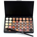 Waterproof 40 Color Eyeshadow Palettes - Smokey Eye and Shimmering Glitter - Blossomlipsmakeup