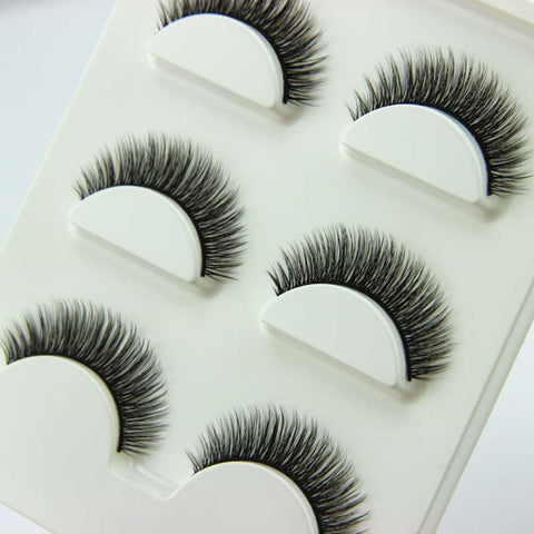 3 Pairs Hand-Made Super Natural Cross Thick Eye Lashes - Blossomlipsmakeup