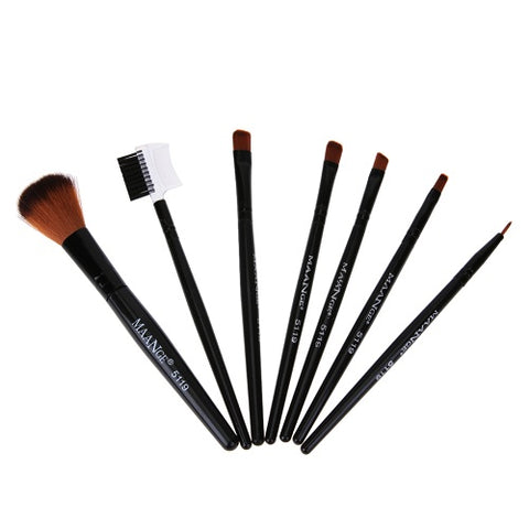 7 Piece Professional Makeup Brush Kit - Blossomlipsmakeup