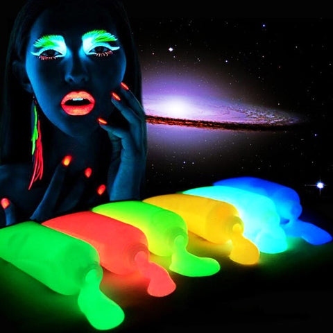 Neon Glow in the Dark Face and Body Paint - Blossomlipsmakeup