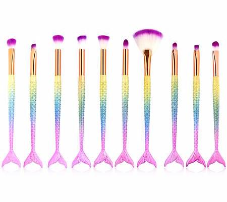 Mermaid Brush Set - Blossomlipsmakeup
