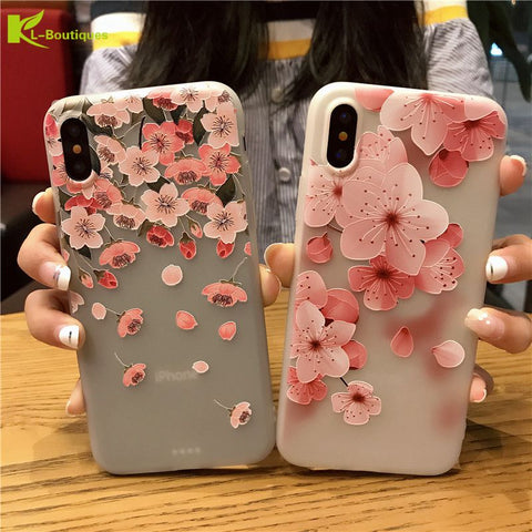 Blossom Petal Silicone Case For iPhone 8 and X - Blossomlipsmakeup