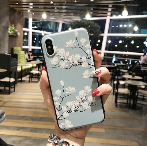 Cherry Blossom Flower Case For iPhone X, 8, 8 plus ,7, 6, 6S, 5, 5s, SE - Blossomlipsmakeup