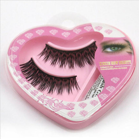Heart Shaped Eyelashes and Eyelash Glue Make Up Set - Blossomlipsmakeup