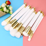 White Brush Set - Blossomlipsmakeup