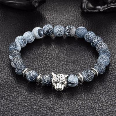 Panthera™– Leopard Head Beaded Bracelet
