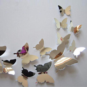 Reflects™ - 3D Butterfly Mirror Wall Stickers - 12 pieces/set