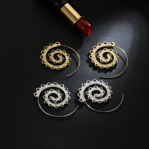 Gyrate™ – Ethnic Swirl Hoop Earrings (1pc)