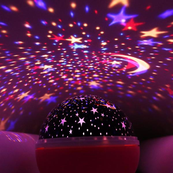 Cosmos™ – Rotating Moon & Stars LED Projector