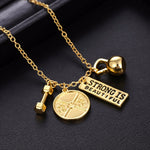 Charm™ – Gym-Affirmation Statement Necklace