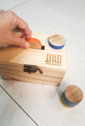 Manila Wooden Toys Little Treasures Wooden Coin Set