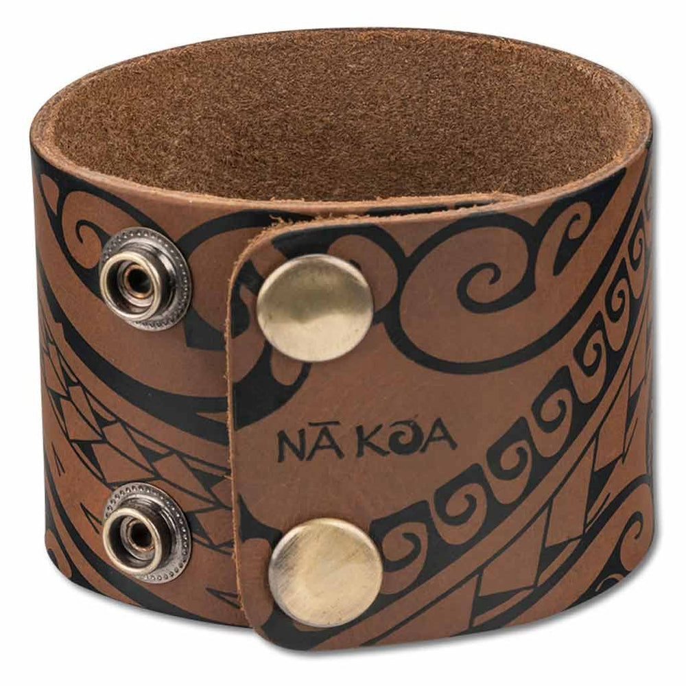 NĀ KOA KA27 Hawaiian tattoo cuff - Design: Ola by Marlo Lualemana